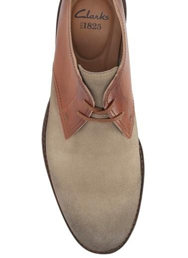 Clarks %100 Deri Bağcıklı Ayakkabı Vizon